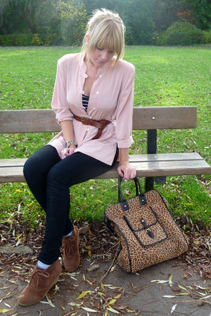 brown wedges select shoes - black jeggings Primark jeans - camel H&amp;M jacket