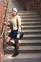 black Primark boots - purple new look hat - brown H&M jacket