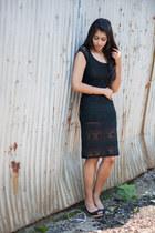 black lucca couture dress - black Aldo wedges