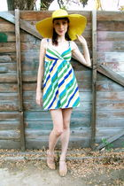 green thrifted dress
