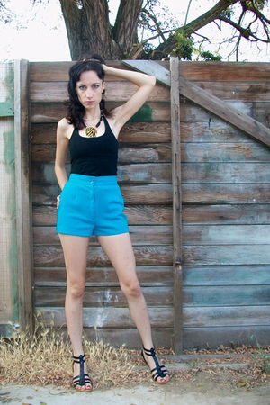 blue bows and arrows vintage shorts