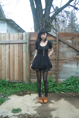 black crossroads dress - black Sock Dreams tights - black Target shoes - Crimson