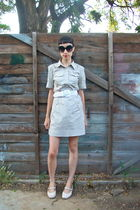 beige thrifted dress