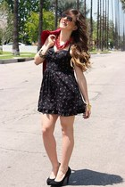 Guess dress - Nasty Gal blazer - sam edelman pumps
