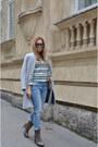 Guess-boots-silver-stradivarius-coat-zara-jeans-zara-blazer