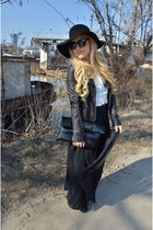 black Zara skirt - black wool New Yorker hat - black Julien Macdonald jacket