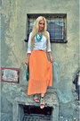 Black-river-island-sandals-orange-sheinside-skirt-white-morgan-skirt