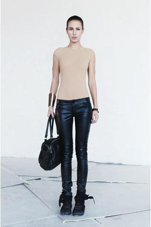 nude maison martin margiela bodysuit - black Bimba&Lola bag