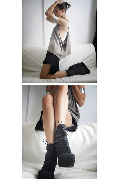 BB Washed by Bruno Bordese wedges - Rick Owens shorts - Cheap Monday top