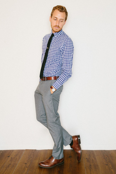 stafford ashton JCPenney shoes - J Crew shirt