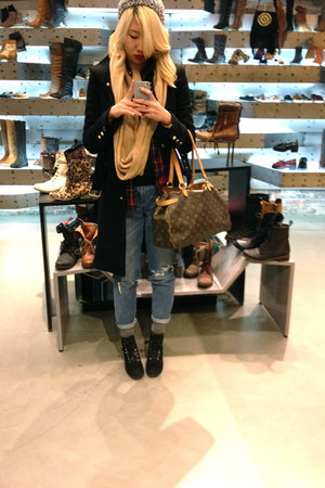 Zara coat - madewell jeans
