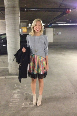 Zara sweater - Love Nail Tree necklace - Prabal Gurung for Target skirt