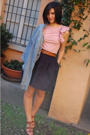 imperial skirt - imperial shirt - Zara belt - Fiorifrancesi shoes
