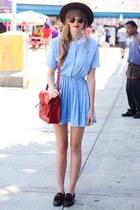 sky blue Tea and Tulips dress