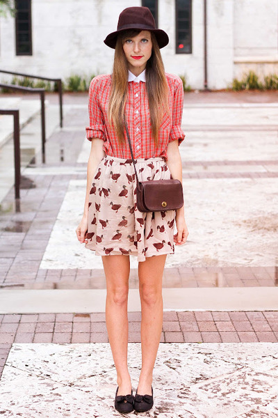 pepa loves skirt - vintage Coach bag - Tea and Tulips blouse