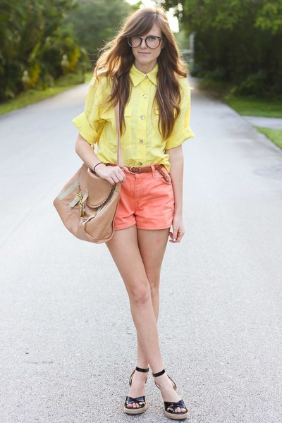 yellow Tea and Tulips blouse