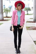 bubble gum Tea and Tulips jacket - aquamarine Tea and Tulips blouse