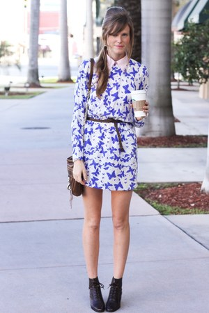 blue Tea and Tulips dress
