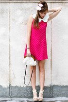hot pink Tea and Tulips dress