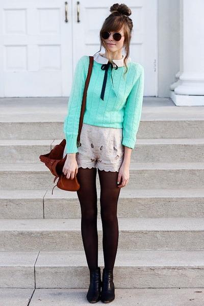 aquamarine Tea and Tulips sweater