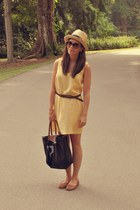 H&M dress - longchamp bag