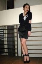 Zara - Mango shirt - bazaar find skirt - Tyler