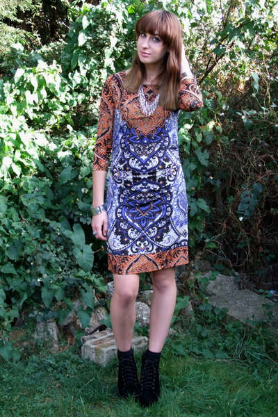 burnt orange phase eight dress