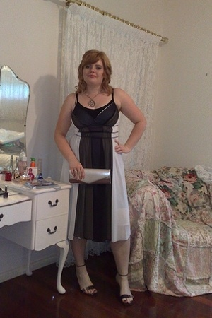 dress - Cest Bon shoes - Kate Hill purse - diva necklace