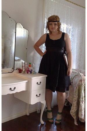 dress - zu shoes - Kate Hill purse - ribbon accessories