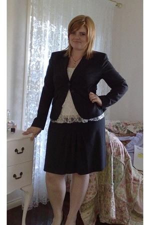 portmans skirt - portmans jacket - Forever New top - necklace accessories