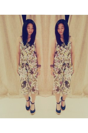 floral vintage dress - romper