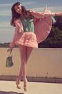 Light-pink-romwe-coat-light-pink-tights-aquamarine-lulus-bag