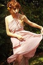 light pink maxi romwe dress