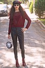 Maroon-boots-black-beret-hat-maroon-heart-pop-couture-sweater