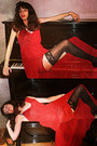 Black-oasap-heels-ruby-red-stradivarius-dress-black-stockings