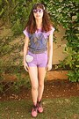 Pink-oasap-boots-white-heart-studded-romwe-bag-light-purple-oasap-shorts