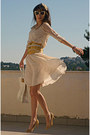 Gold-dress-ivory-ted-baker-bag-ivory-romwe-sunglasses