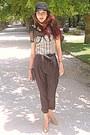 Eggshell-corset-oasap-top-black-hat-black-purse-neutral-steve-madden-heels