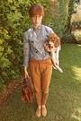 Tan-oxfords-topshop-shoes-periwinkle-cat-romwe-shirt-burnt-orange-bag