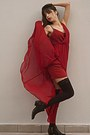 Black-h-m-boots-ruby-red-stradivarius-dress-black-stay-ups-stockings