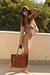 camel Stradivarius jacket - nude Dorothy Perkins dress - camel H&M hat
