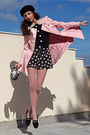 0c3df987b9b ... Black-beret-h-m-hat-light-pink-romwe-coat- ...