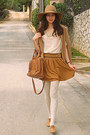 Camel-oxford-topshop-shoes-camel-hat-bronze-mimi-boutique-bag