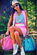 aquamarine worn as a top Lulus dress - light pink Tommy Hilfiger scarf - aquamar
