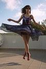 Black-romwe-sunglasses-pink-oasap-boots-magenta-galaxy-romwe-swimwear