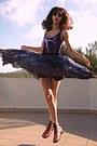 Pink-oasap-boots-black-romwe-sunglasses-magenta-galaxy-romwe-swimwear