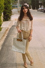 Cream-chicwish-blouse-cream-ted-baker-bag-camel-pants-camel-heels
