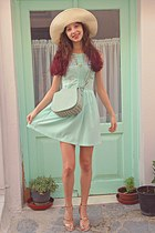 aquamarine lulus bag - aquamarine Zara dress - aquamarine ice cream necklace
