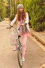 Pink-converse-sneakers-light-pink-trench-skirt-romwe-coat