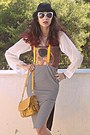 Burnt-orange-klimt-romwe-dress-mustard-bag-ivory-romwe-sunglasses